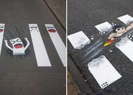 Street art : OakOak transforme les passages piétons en cartoons