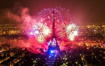 Le feu d'artifice du 14 juillet 2018 à la Tour Eiffel Paris
