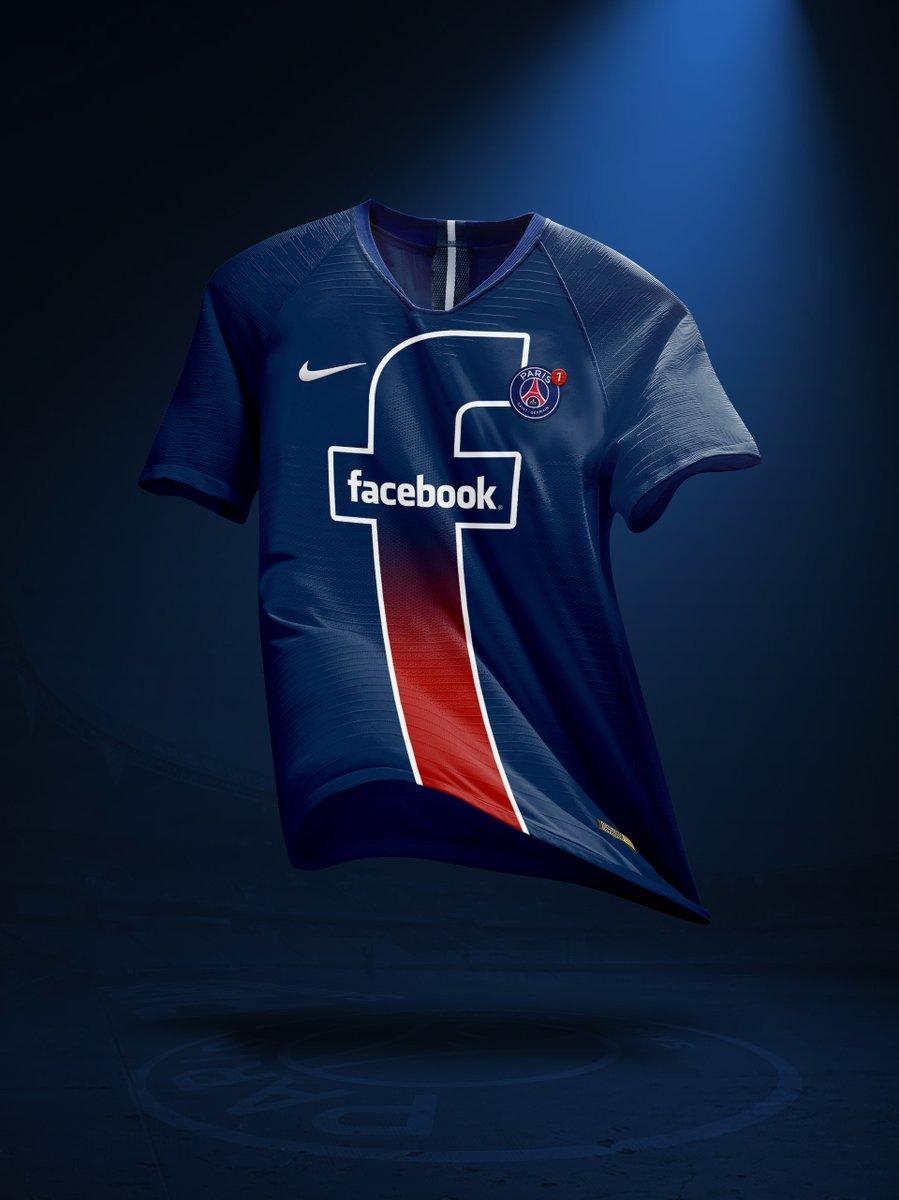 Nouveau sponsor maillot du PSG : Facebook