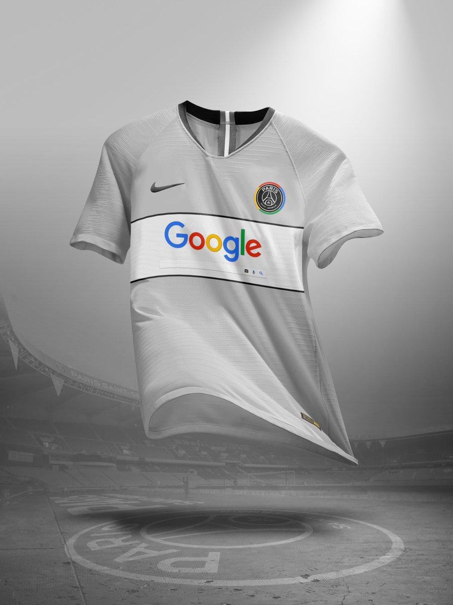 Nouveau sponsor maillot du PSG : Google