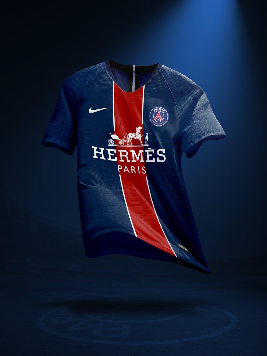Nouveau sponsor maillot du PSG : Hermès Paris