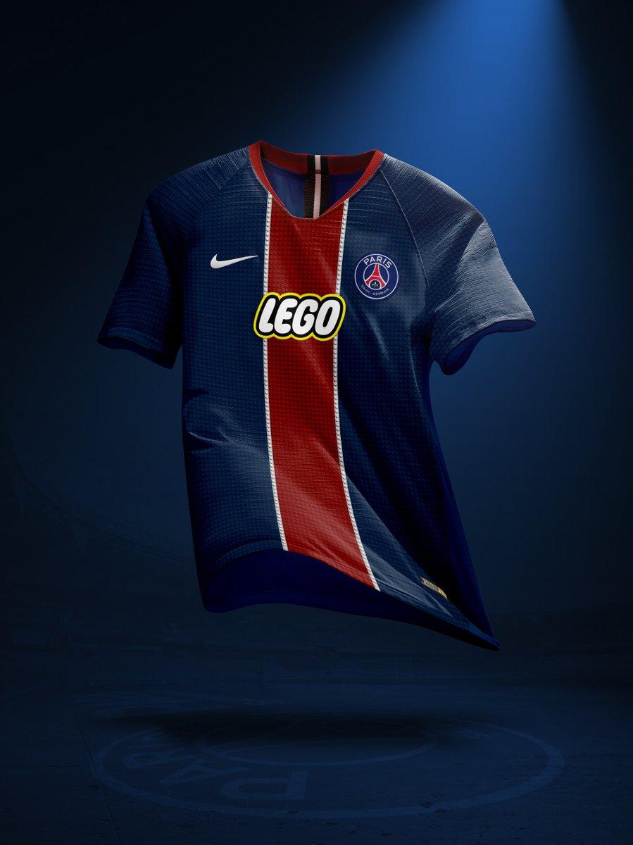 Nouveau sponsor maillot du PSG : LEGO