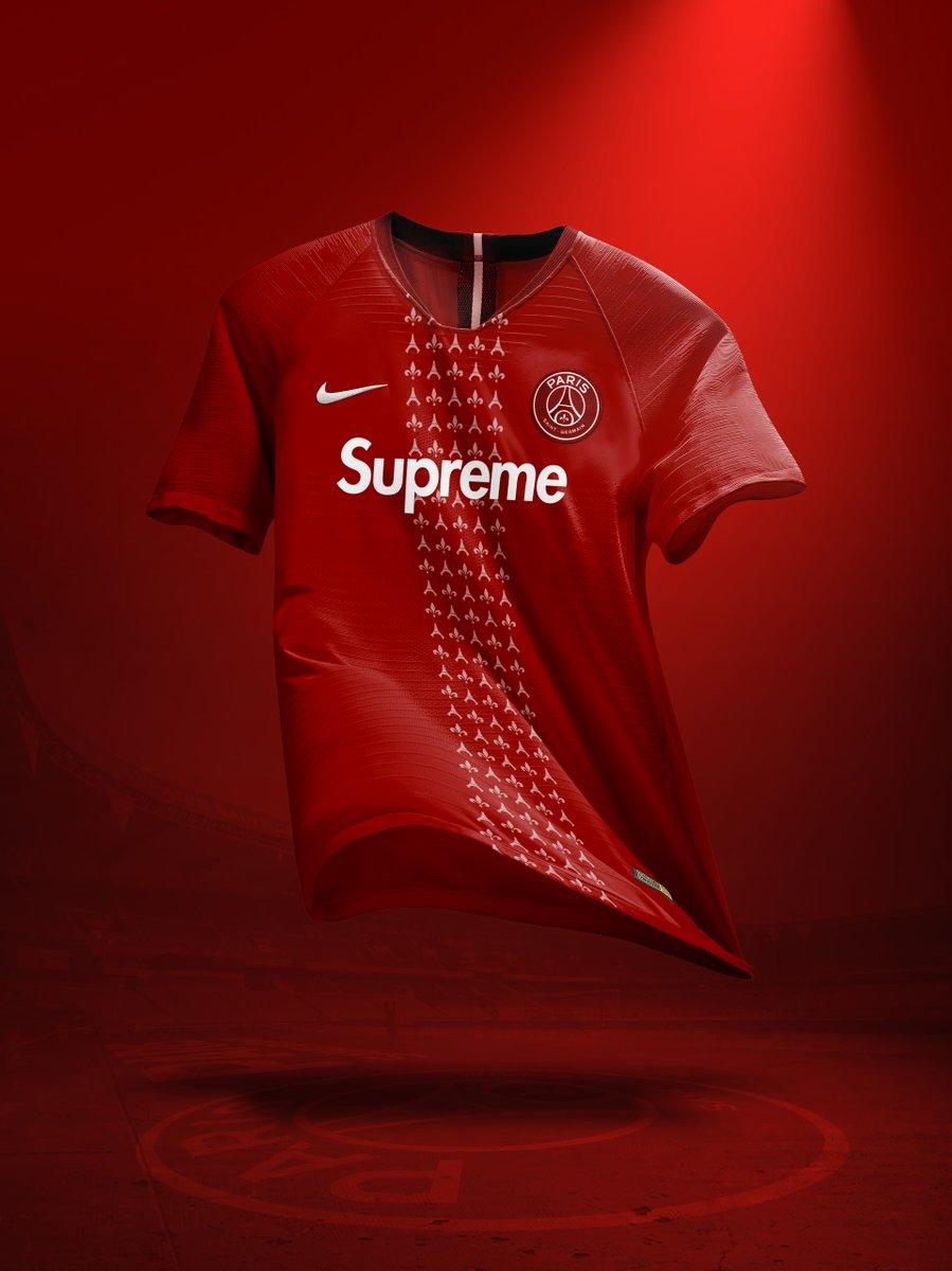 Nouveau sponsor maillot du PSG : Supreme