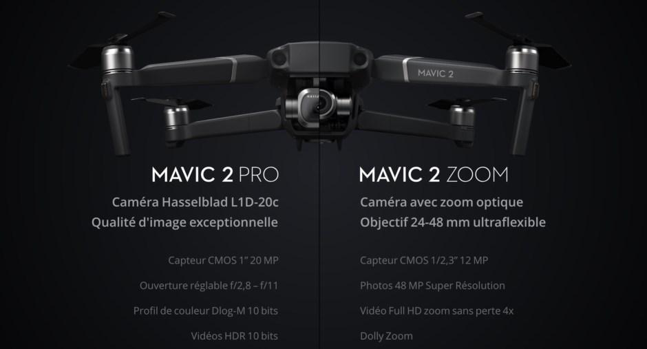 Les différences entre le drone DJI Mavic 2 Pro vs le DJI Mavic 2 Zoom