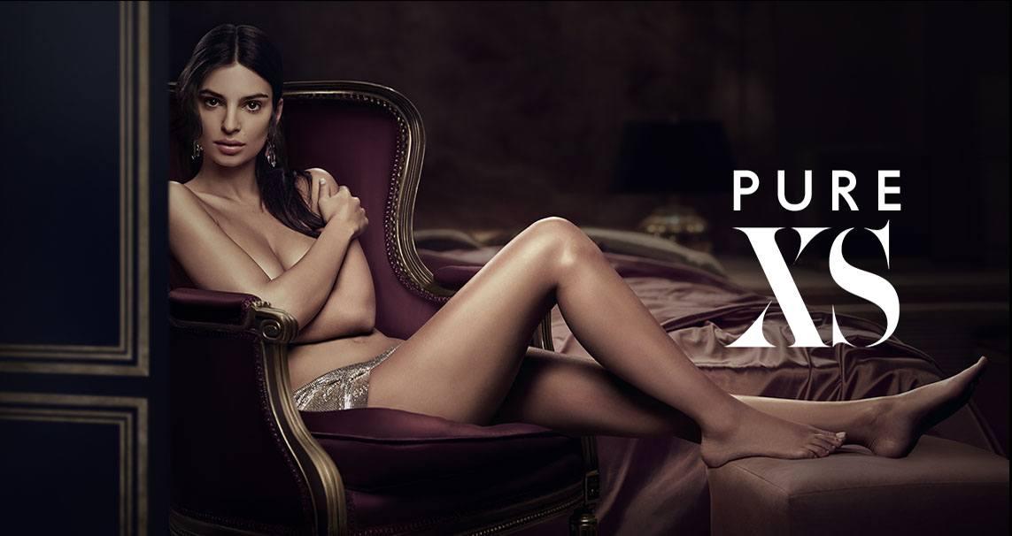 Emily Ratajkowski nue dans la pub du parfum Paco Rabanne Pure XS 2018