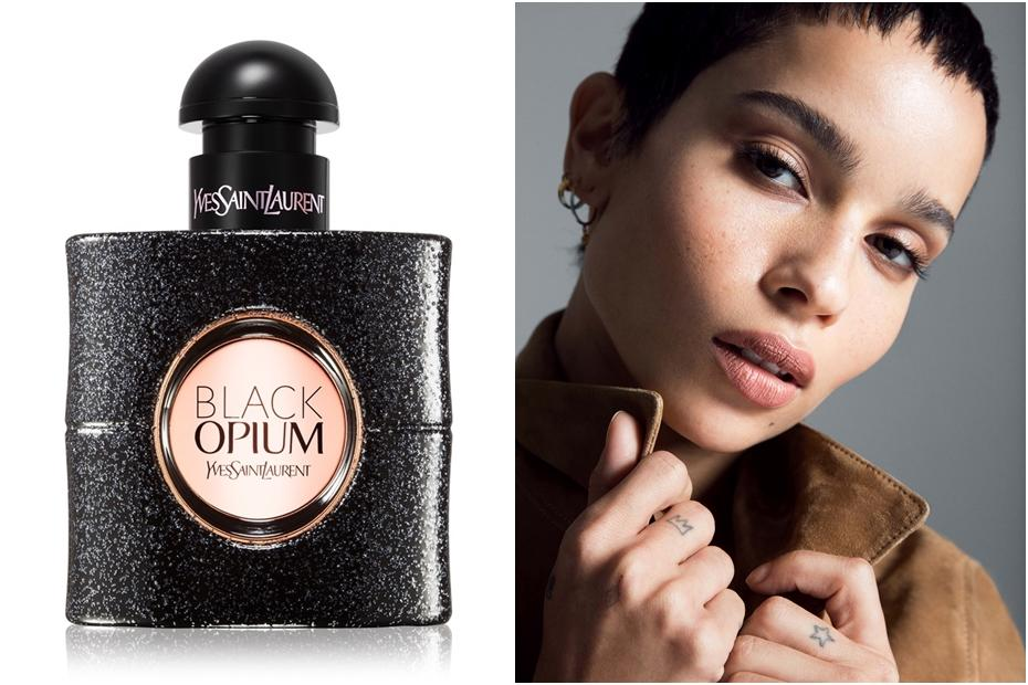 Zoë Kavitz, égérie du parfum Yves Saint-Laurent Black Opium