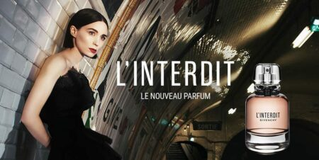 Pub du parfum Givenchy L'Interdit avec Rooney Maya