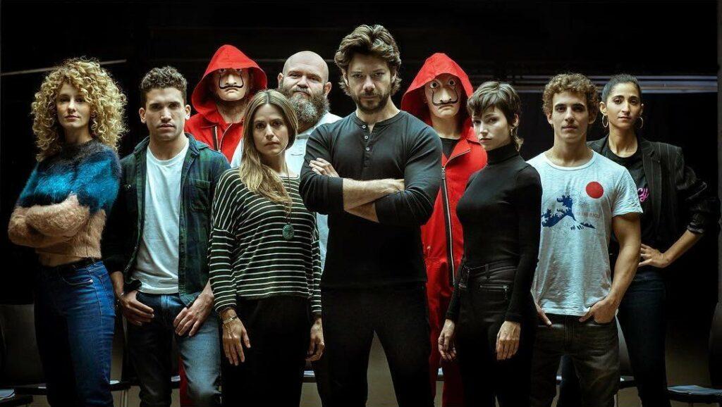Acteurs de la saison 3 de la série La Casa de papel
