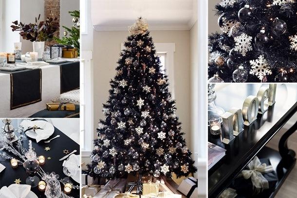 Déco de Noël en noir et blanc