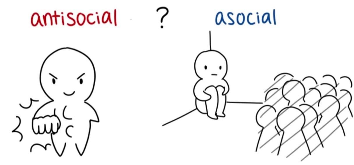 différence antisocial vs asocial
