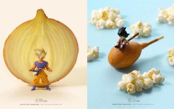 Il recrée les scènes de Dragon Ball Z en miniature avec des objets réels