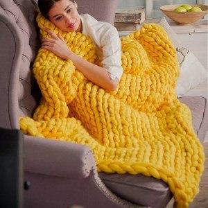 cadeaux de Noël frileux : la couverture laine grosse maille