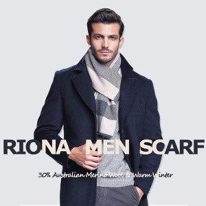 écharpe chaude pour homme en laine mérinos