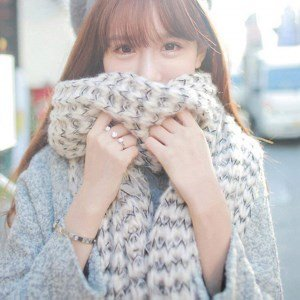 écharpe douce en laine mohair