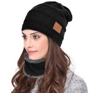 kit bonnet + tour de coup avec doublure polaire