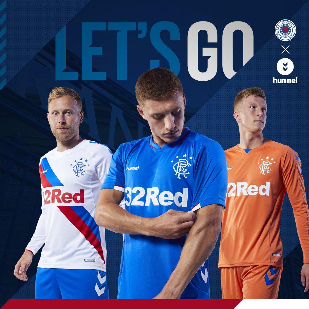 Le maillot de football Glasgow Rangers 2018-2019 par Hummel