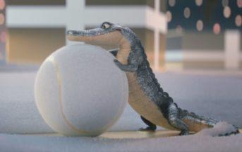 Un crocodile animé présente les parfums Lacoste dans la pub de Noël 2018