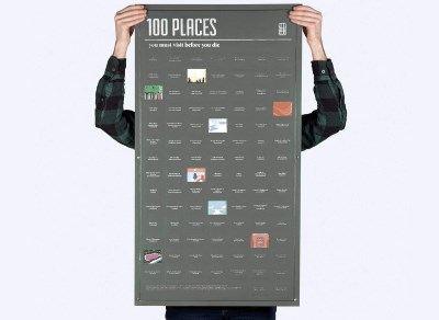 Poster des 100 lieux à Visiter Avant de Mourir