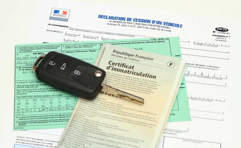 carte grise : certification d'immatriculation