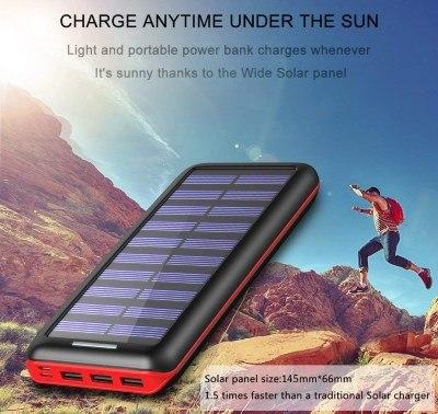 chargeur solaire portable de voyage