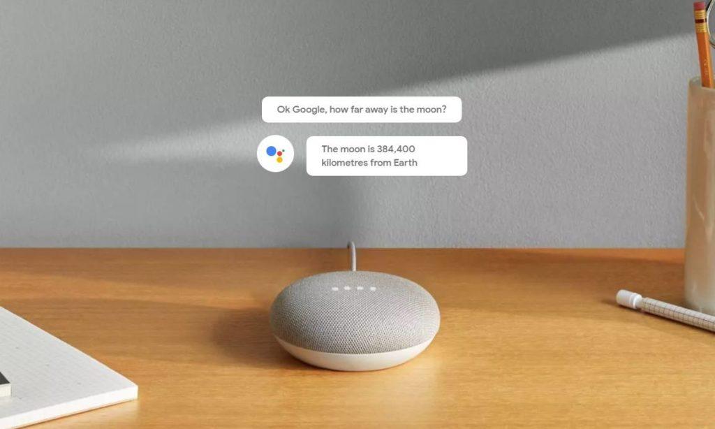 google home mini : assistant avec commande vocale