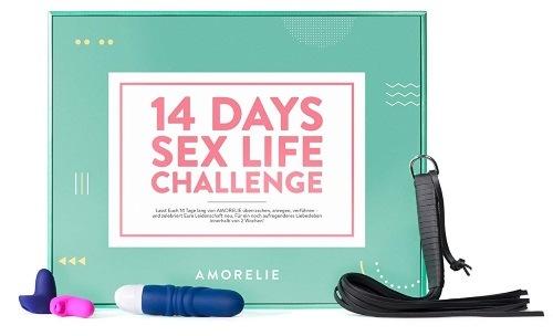 Boîte cadeau pour les couples – 14 Days of Sex Life Challenge avec Sextoys Et érotique Accessoires amorelie