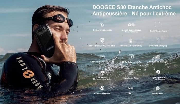 Doogee S80 smartphone incassable et étanche