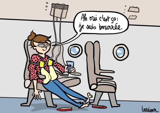 boire de l'alcool en avion