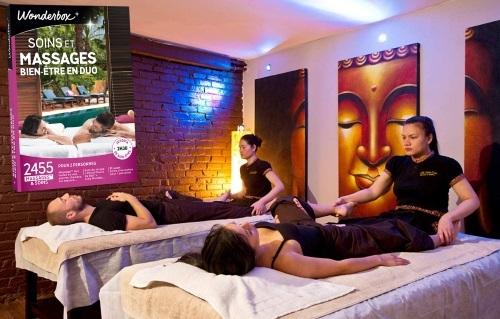Coffret cadeau Wondebox soins et massages bien-être en duo