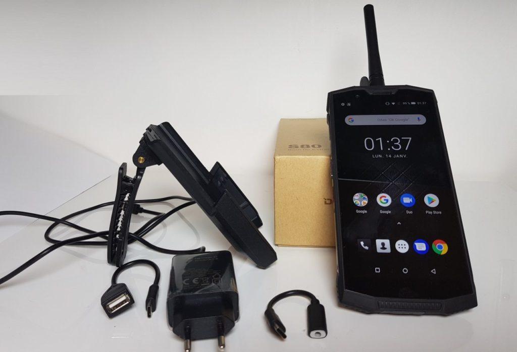 Modèle du test : le Doogee S80 6Go + 64Go Noir
