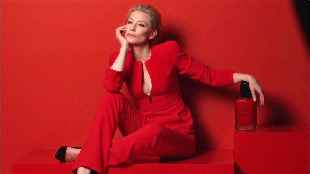 De Parfum Sì L'actrice Cate Avec Du ArmaniPub Blanchett Giorgio 2019 yvmwNn80O