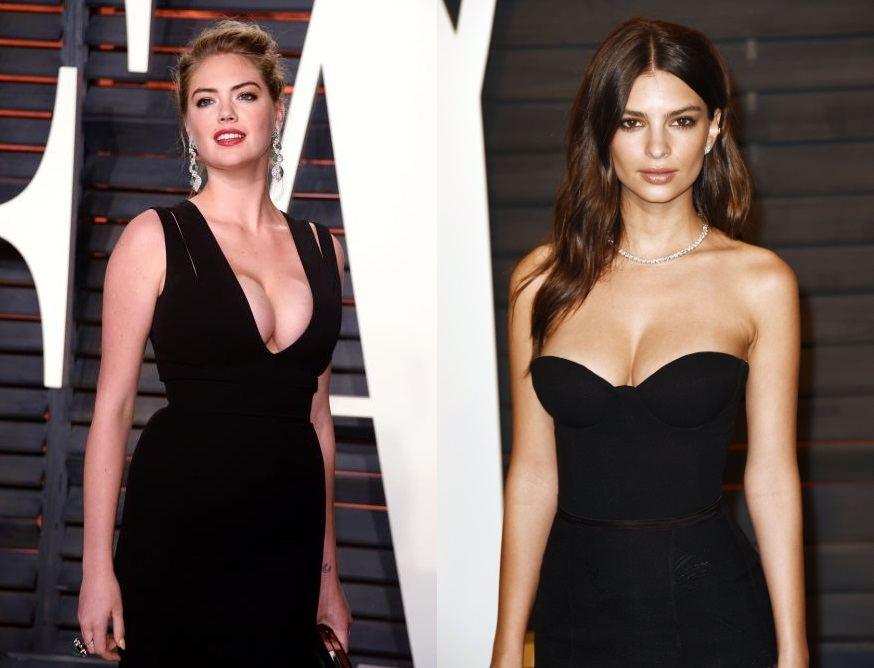 Kate Upton et Emily Ratajkowski adpeptes de la robe de soirée décolletée valorisant leur poitrine généreuse