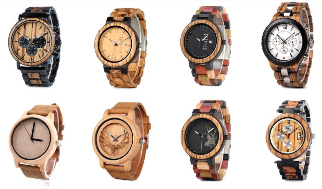 exemples de montres en bois