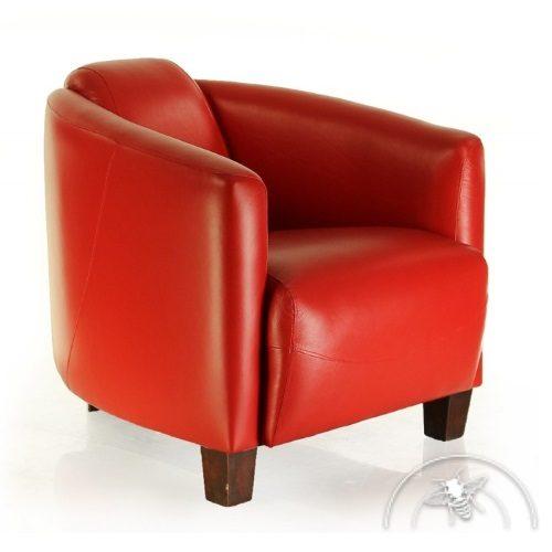 Fauteuil club contemporain en cuir rouge - Opéra