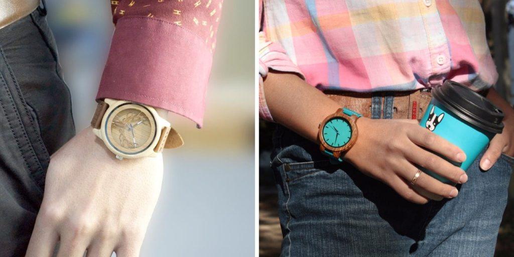 montres en bois classiques