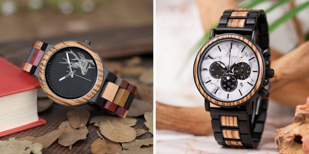 montres en bois modernes