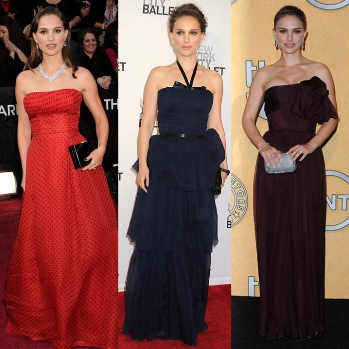 Natalie Portman en robe de soirée