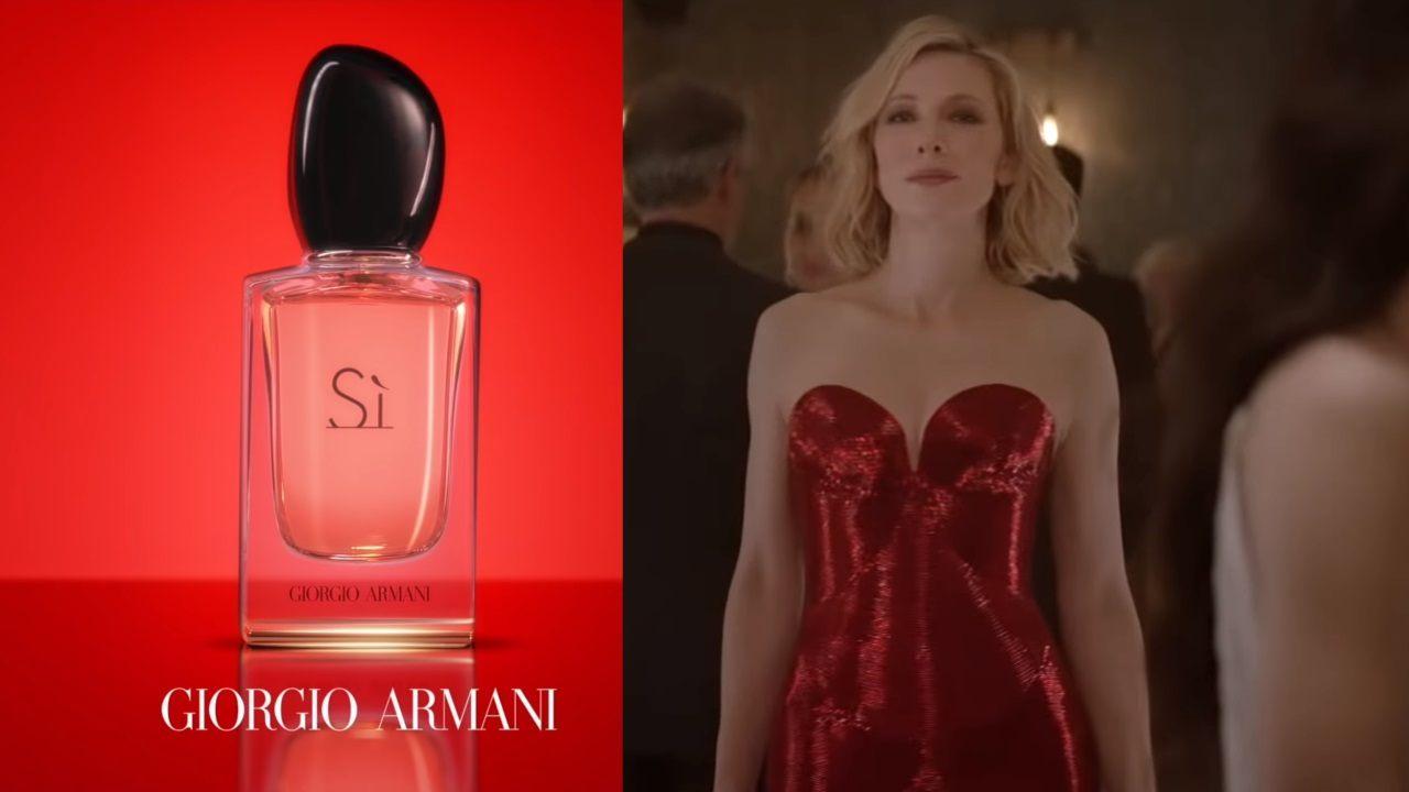 ArmaniPub actriz Sì De Cate Blanchett Giorgio con la 2019 Parfum 6vmbyY7fIg