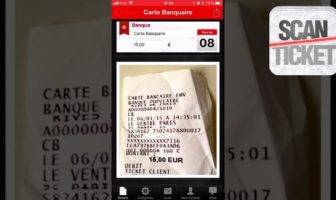 scanticket : l'application iphone pour scanner des tickets