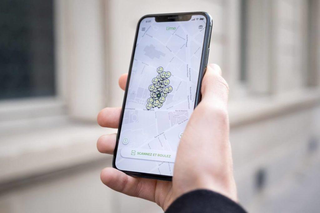 The Parisian Rendez-Vous : géolocalisation des trottinettes sur l'application lime