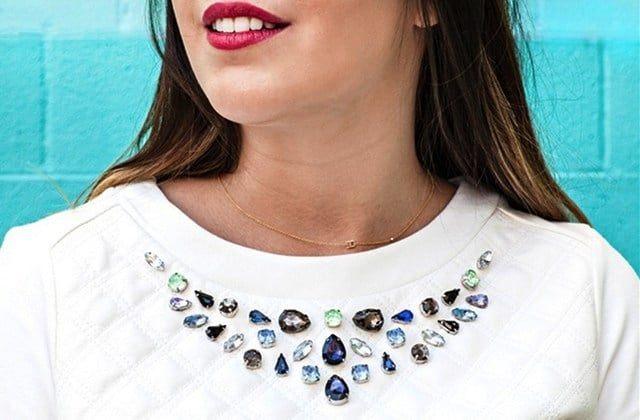 customiser un tshirt avec des bijoux