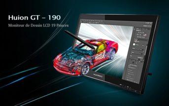 🔥 Promo : la tablette graphique Huion GT-190 + stylo numérique à 319€