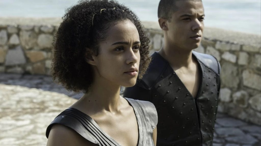 Game of Thrones : Grey Worm et Missandei