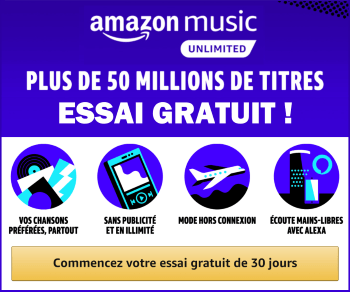 Amazon Music unlimited : essai gratuit