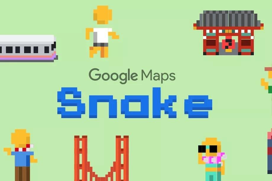 google maps snake : poisson d'avril