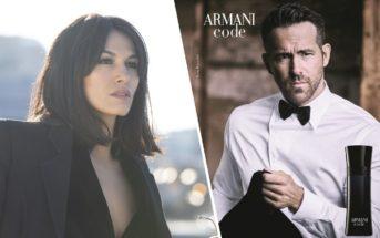 La pub Armani Code Absolu 2019 avec Ryan Reynolds et Élodie Yung