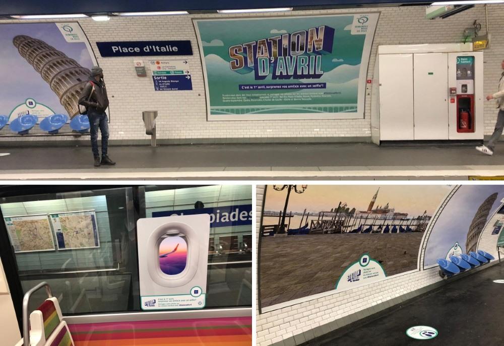 station d' avril RATP : le métro se transforme en avion