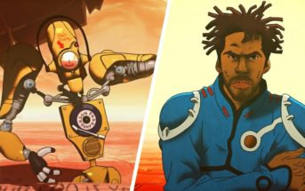 Flying Lotus et Anderson .Paak version manga dans le clip d'animation 'More'