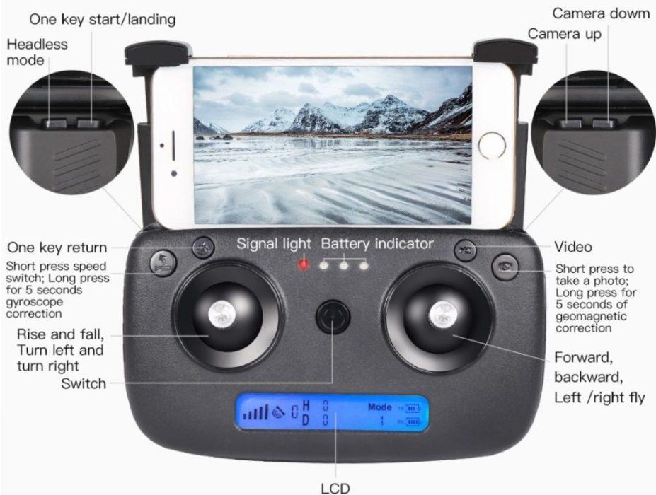ZLRC Beast SG906 drone : télécommande