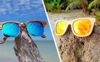 Lunettes de soleil en bois : la tendance matériaux naturels pour cet été